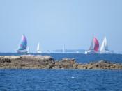 Voiliers dans la baie de Quiberon